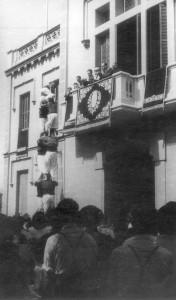 Xiquets de l'Eramprunyà, 1948. Fotografia cedida per l'Arxiu Municipal del Prat.