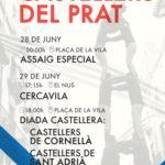 El Prat celebra aquest dissabte cinc anys de castells locals